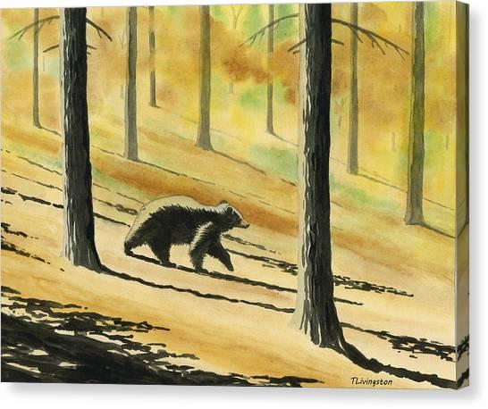 Autumn Bear Canvas Print