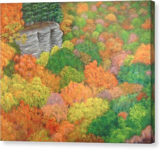 Autumn Beauty Canvas Print by Hollie Leffel
