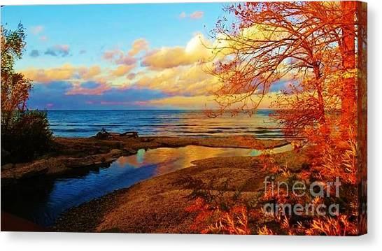 Autumn Beauty Lake Ontario Ny Canvas Print