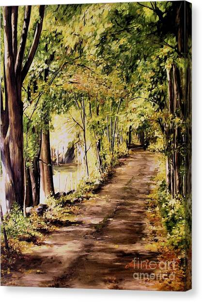 Autumn Begins In Underhill Canvas Print