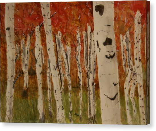 Autumn Birch Forest Canvas Print