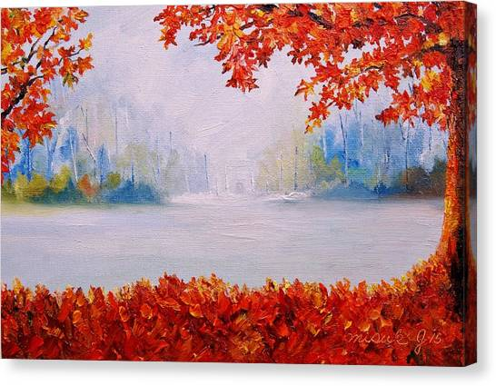 Autumn Blaze Maple Trees Canvas Print