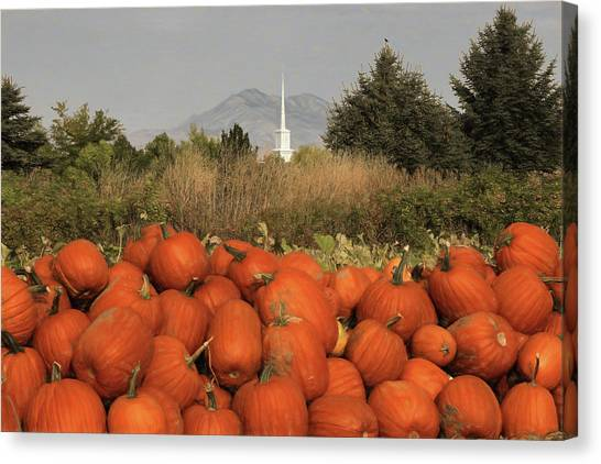 Pumpkin Patch Canvas Print - Autumn Blessings by Donna Kennedy