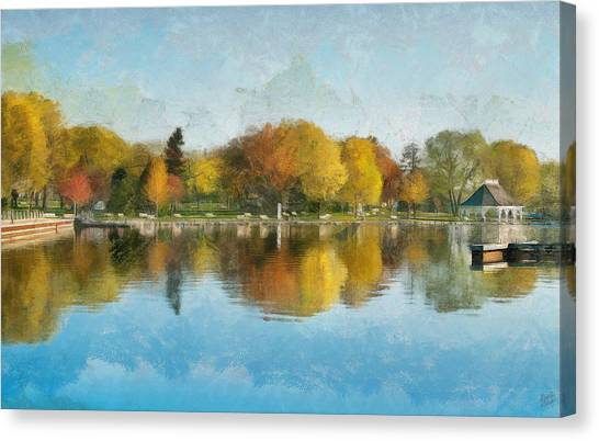 Autumn Blues Canvas Print