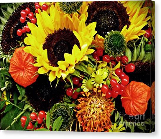 Canvas Print - Autumn Bouquet by Sarah Loft