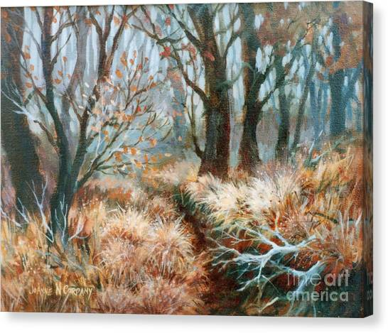 Autumn Brush Canvas Print by JoAnne Corpany