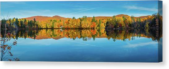 Autumn By The Lake Canvas Print