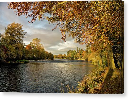 Autumn By The River Ness Canvas Print
