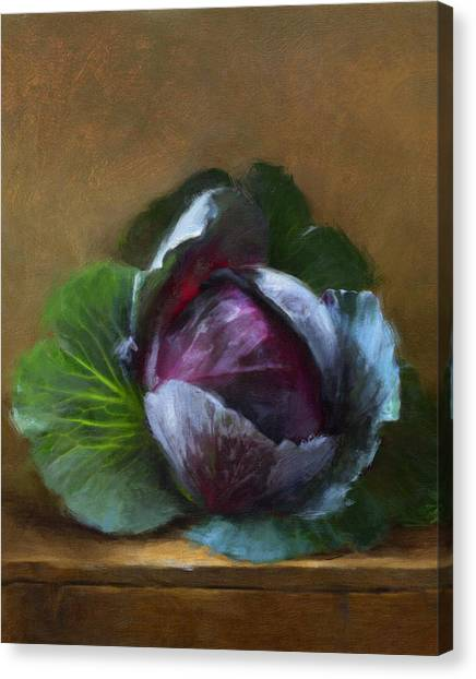 Vegetables Canvas Print - Autumn Cabbage by Robert Papp