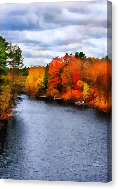 Autumn Channel Canvas Print