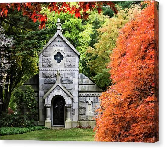 Autumn Chapel Canvas Print