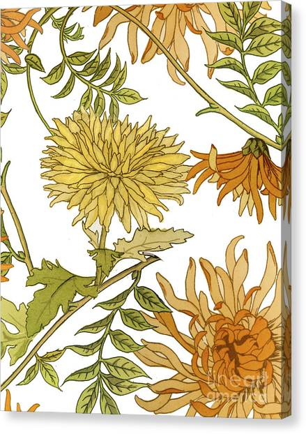 Autumn Canvas Print - Autumn Chrysanthemums II by Mindy Sommers