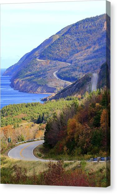 Autumn Color On The Cabot Trail, Cape Breton, Canada Canvas Print