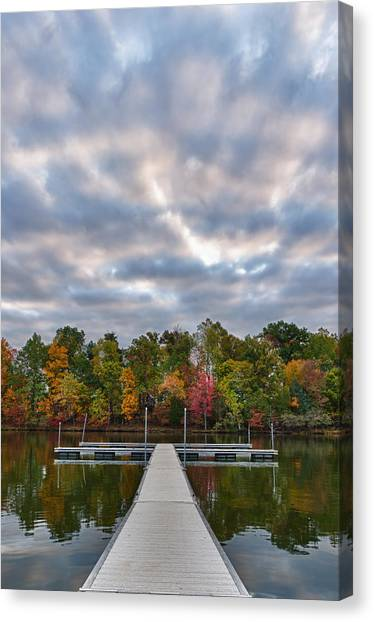 Autumn Colors At The Lake Canvas Print