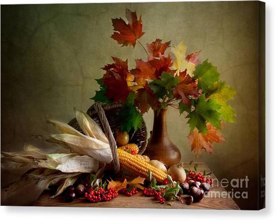 Baskets Canvas Print - Autumn Colors by Nailia Schwarz