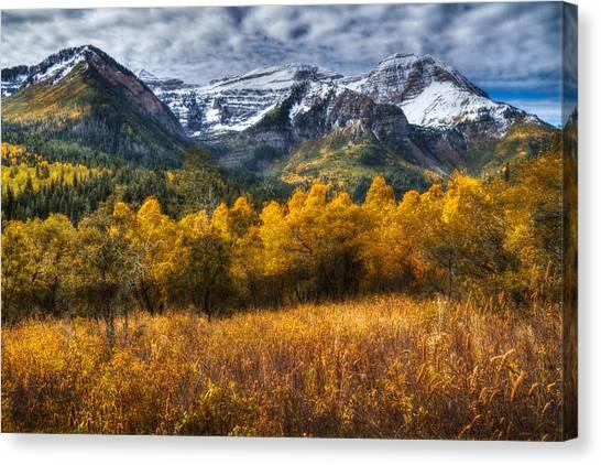 Autumn Colors On Mount Timpanogos Canvas Print