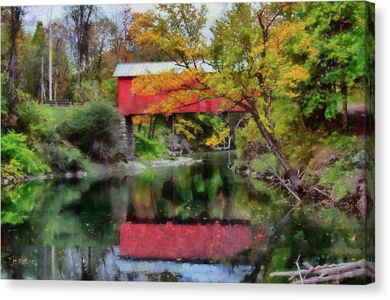Autumn Colors Over Slaughterhouse. Canvas Print