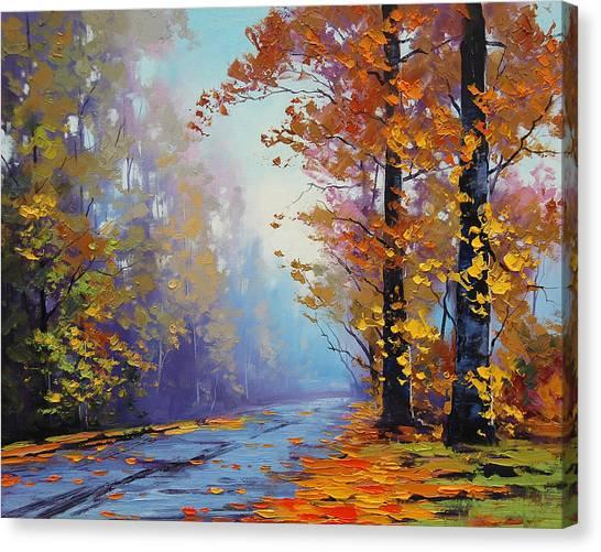 Aspen Forest Canvas Print - Autumn Colours by Graham Gercken
