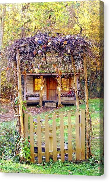Autumn Cottage Canvas Print