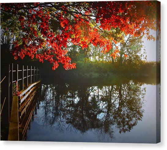 Autumn Creek Magic Canvas Print