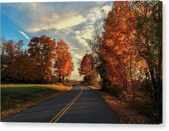Autumn Drive Canvas Print