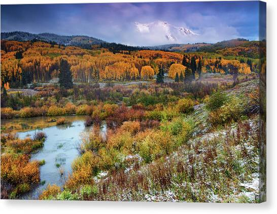 Autumn Dusting Canvas Print