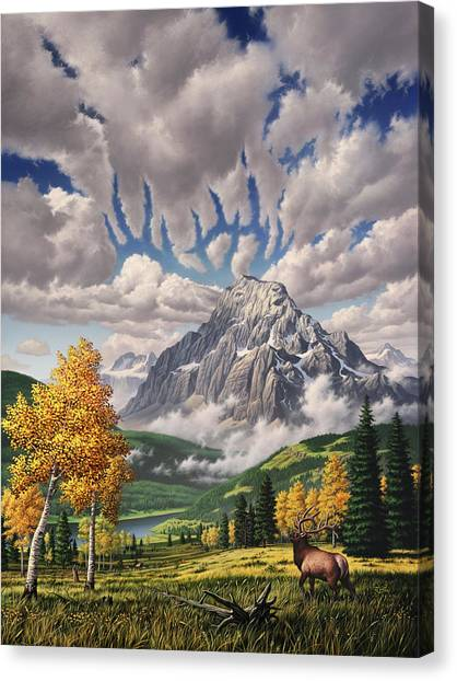 Colorado Rockies Canvas Print - Autumn Echos by Jerry LoFaro