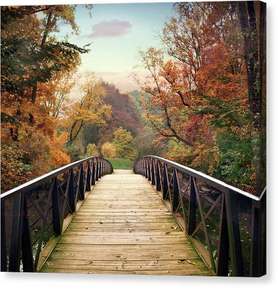 Canvas Print featuring the photograph Autumn Encounter by Jessica Jenney