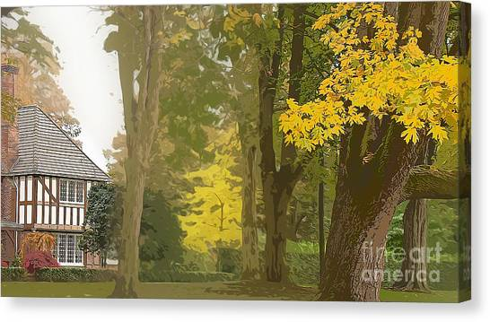 Maple Leaf Art Canvas Print -  Autumn Expression by Beverly Guilliams
