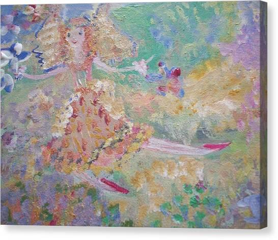 Autumn Fairy Clean Up Canvas Print