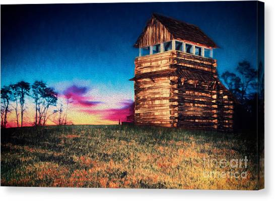 Groundhogs Canvas Print - Autumn Fall Colors 11 Ap by Dan Carmichael