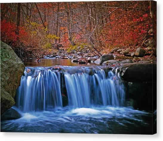 Autumn Falls Canvas Print by Jim DeLillo