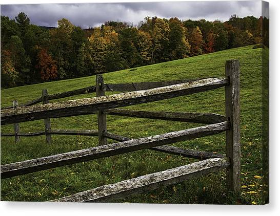 Post Falls Canvas Print - Autumn Fence by Garry Gay