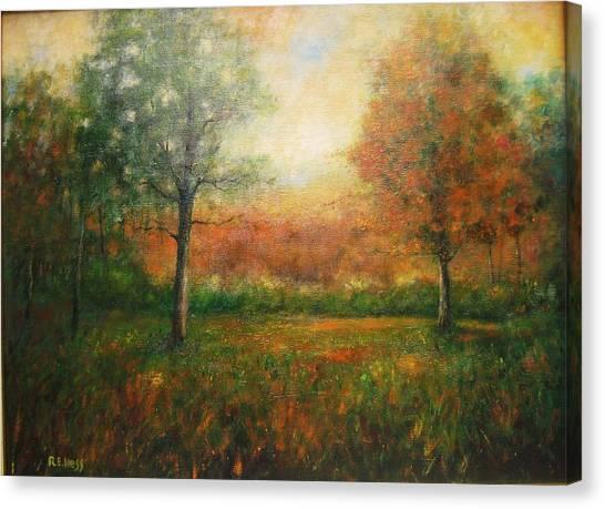 Autumn Field Canvas Print by Robert  Hess