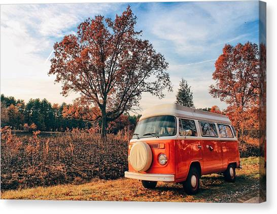 Microbus Canvas Print - Autumn Flatters Alani by Andrew Weills