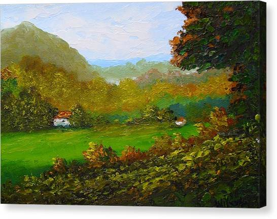 Autumn Canvas Print by Fred Wilson