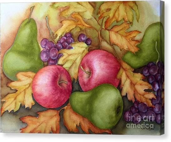 Autumn Fruit Still Life Canvas Print