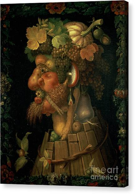 Four Seasons Canvas Print - Autumn by Giuseppe Arcimboldo