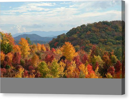 Autumn Glory Canvas Print by Alan Lenk