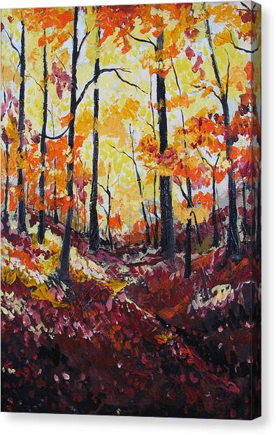 Autumn Gold Canvas Print by Rollin Kocsis