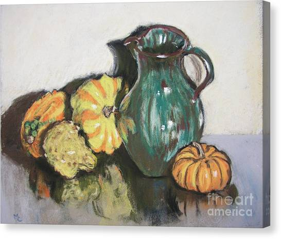 Autumn Gourds Canvas Print by Mary Capriole
