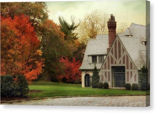 Brick House Canvas Print - Autumn Grandeur by Jessica Jenney
