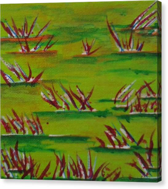 Hoodie Canvas Print - Autumn Grass by Tonya Merrick