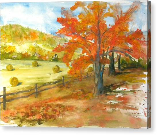 Autumn Harvest Canvas Print by Kris Dixon