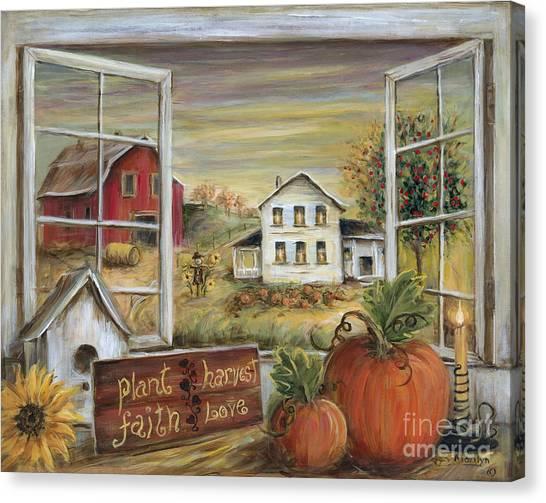 Pumpkin Patch Canvas Print - Autumn Harvest by Marilyn Dunlap