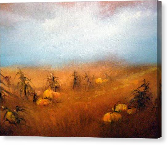 Autumn Harvest Canvas Print by Sally Seago