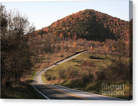 Autumn Hill Near Hancock Maryland Canvas Print