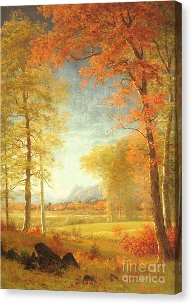 Oneida Canvas Print - Autumn In America by Albert Bierstadt
