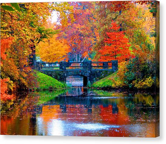 Autumn In Boston Canvas Print