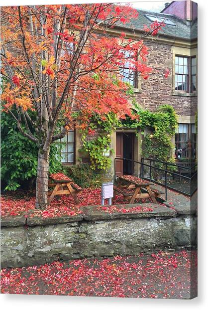 Autumn In Dunblane Canvas Print